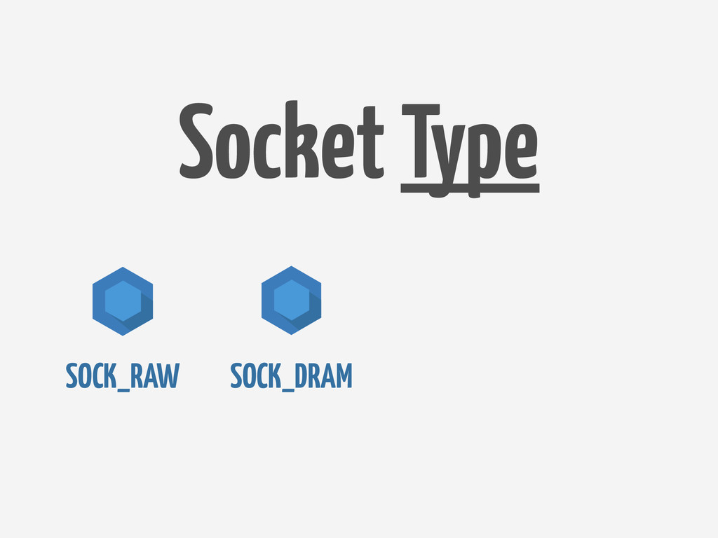 SOCK_DRAM SOCK_RAW Socket Type