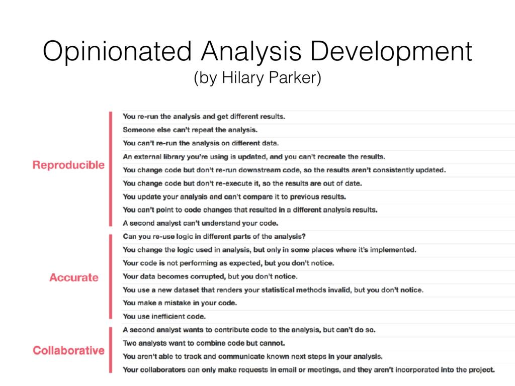 Opinionated Analysis Development (by Hilary Pa...