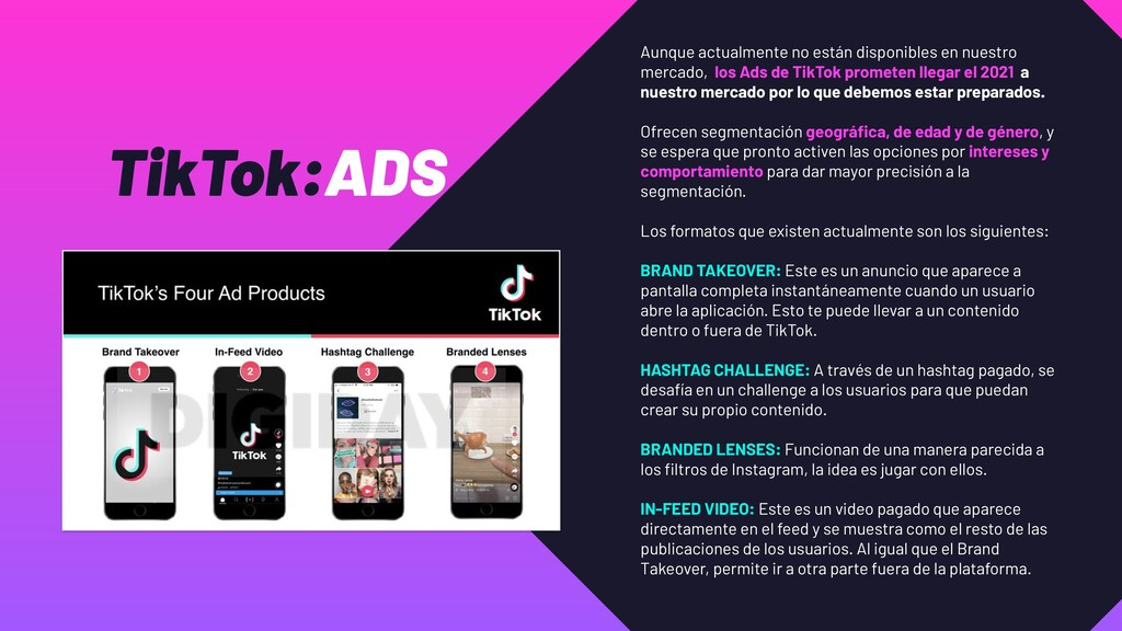 TikTok:ADS Aunque actualmente no están disponib...