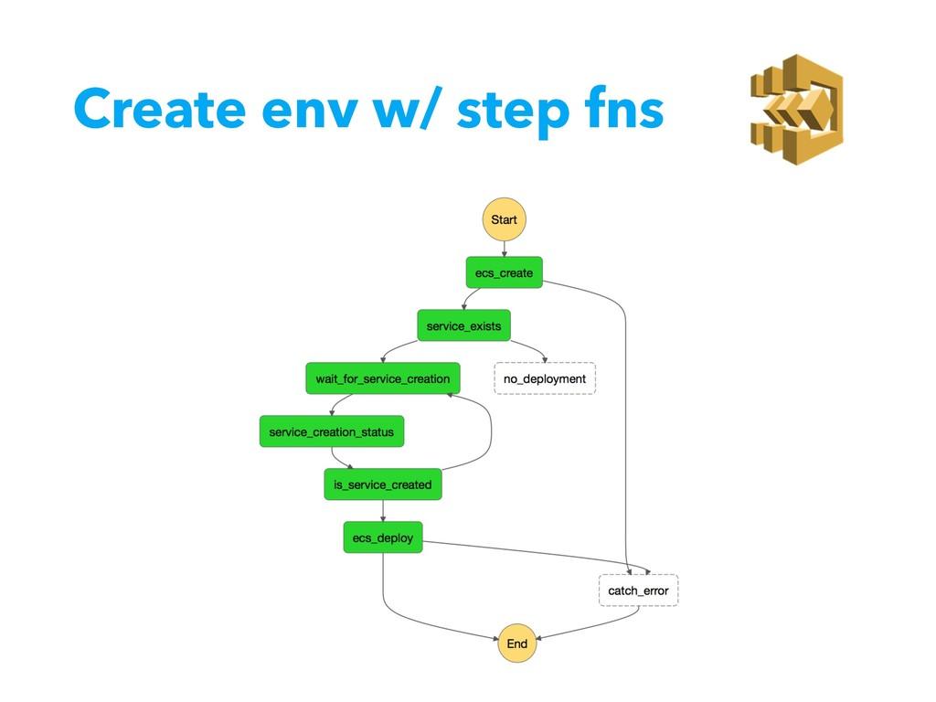 Create env w/ step fns