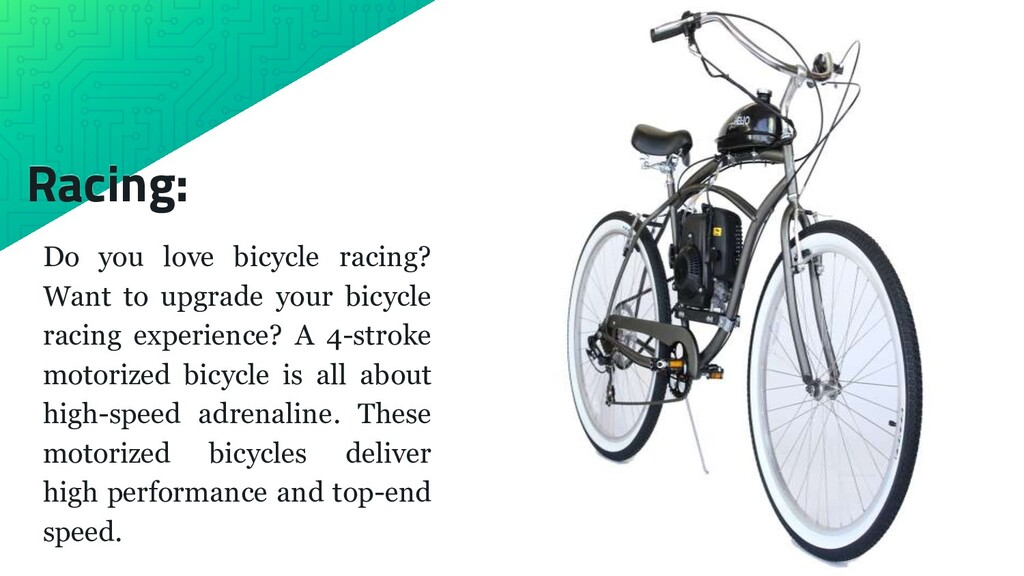 Do you love bicycle racing? Want to upgrade you...