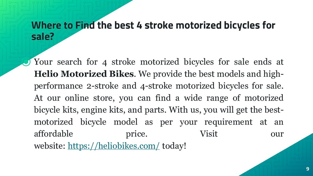 Where to Find the best 4 stroke motorized bicyc...