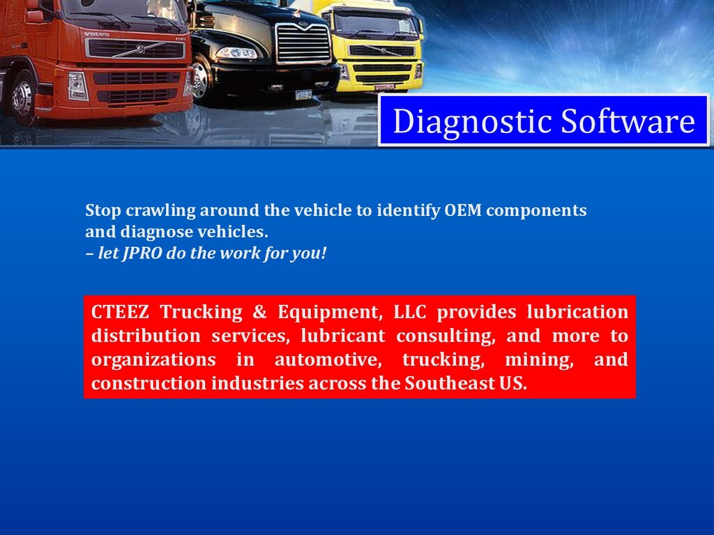 Diagnostic Software Stop crawling around the ve...