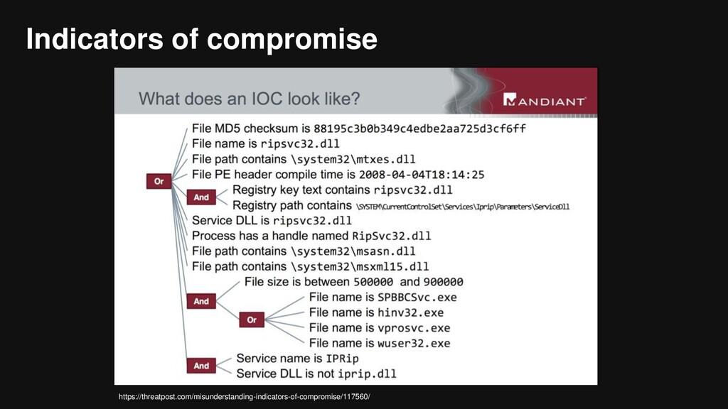 Indicators of compromise https://threatpost.com...