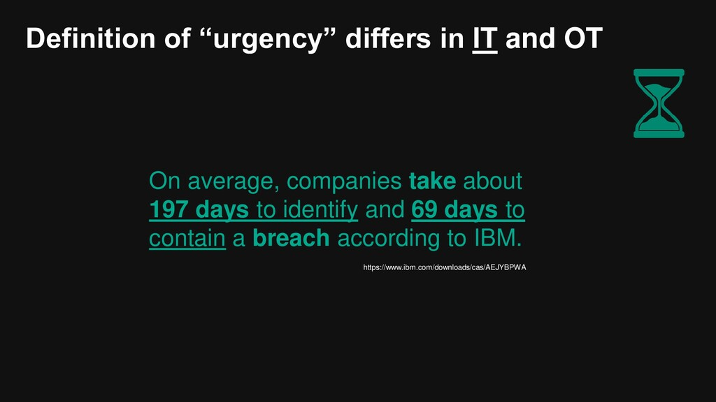 """Definition of """"urgency"""" differs in IT and OT On..."""