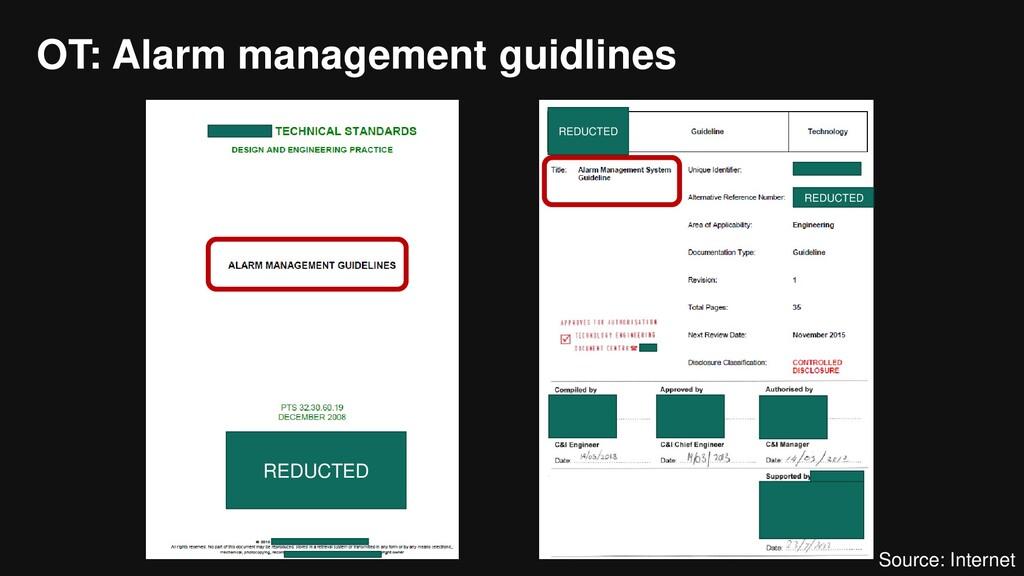OT: Alarm management guidlines REDUCTED REDUCTE...