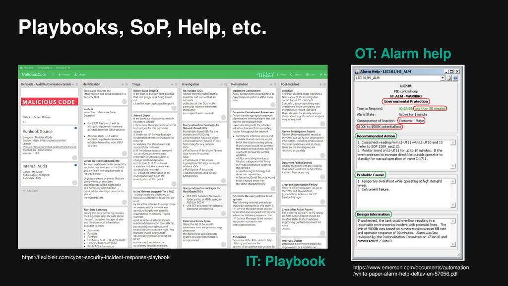 Playbooks, SoP, Help, etc. https://www.emerson....