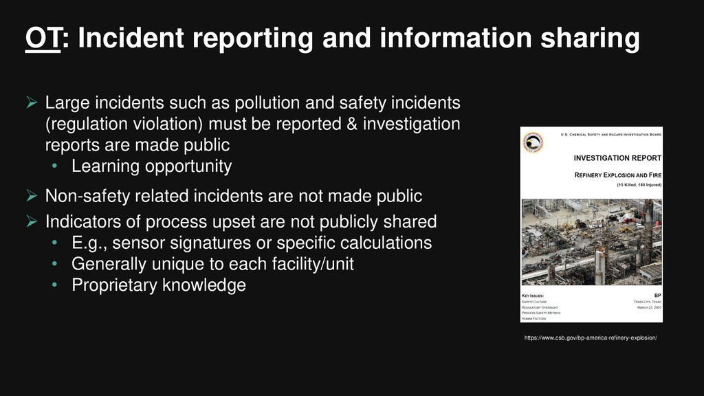 OT: Incident reporting and information sharing ...