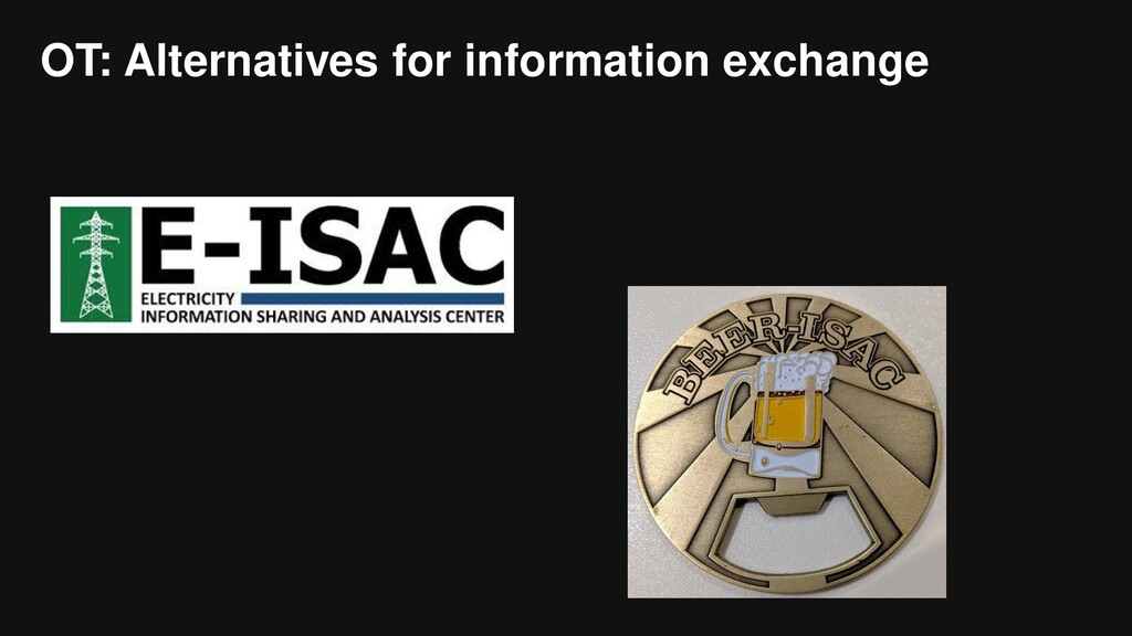 OT: Alternatives for information exchange