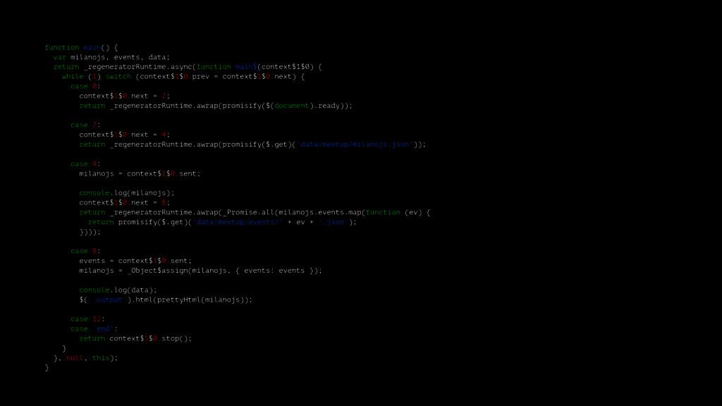 function main() { var milanojs, events, data; r...