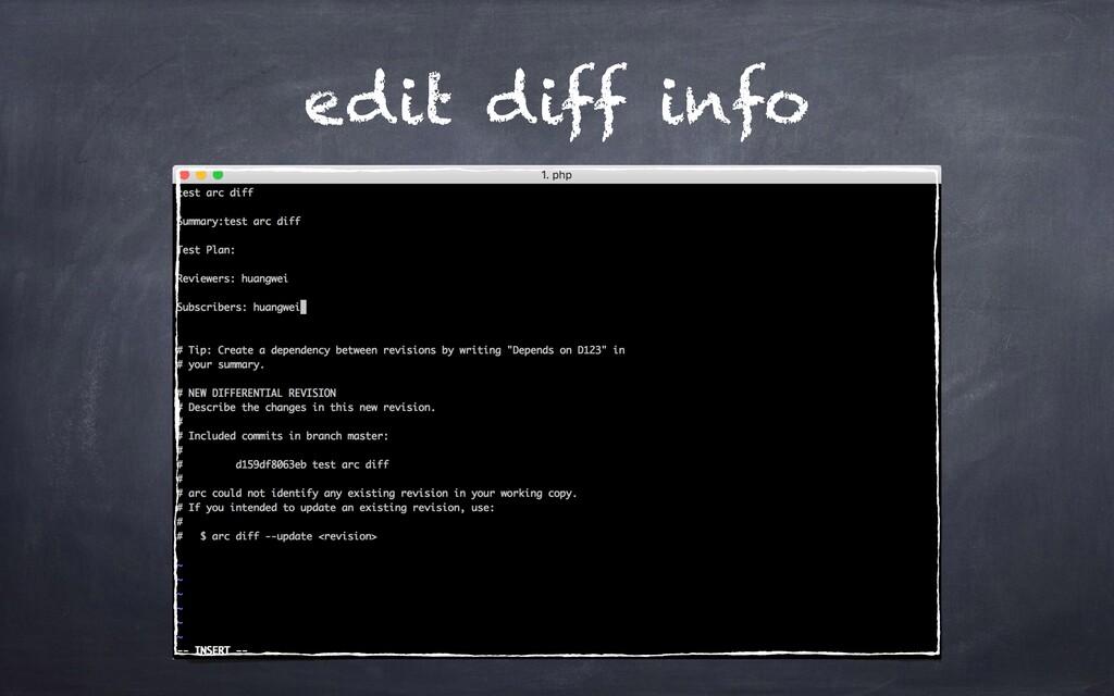 edit diff info