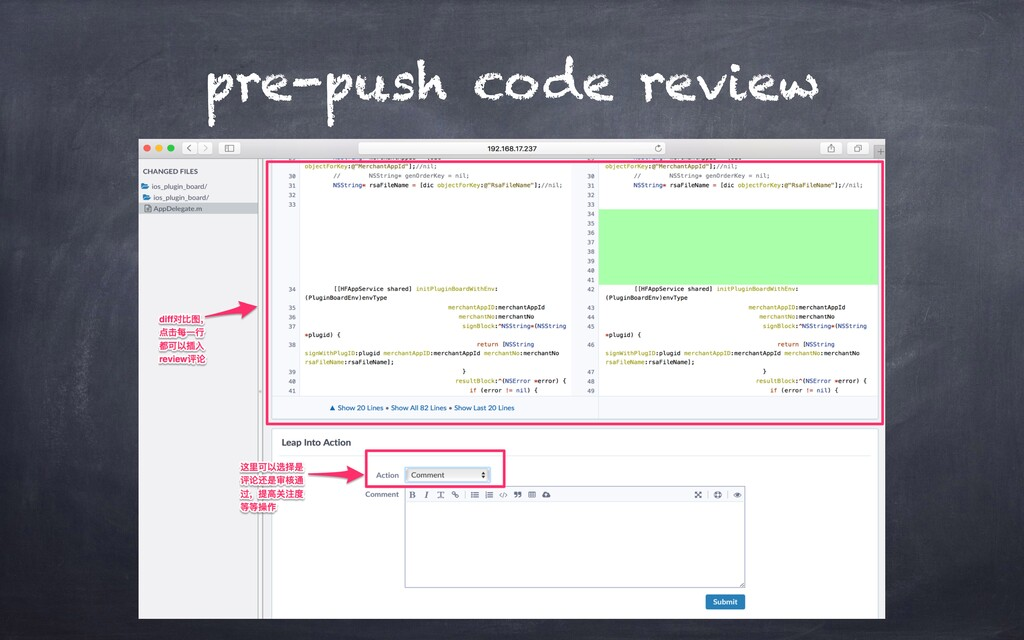 pre-push code review