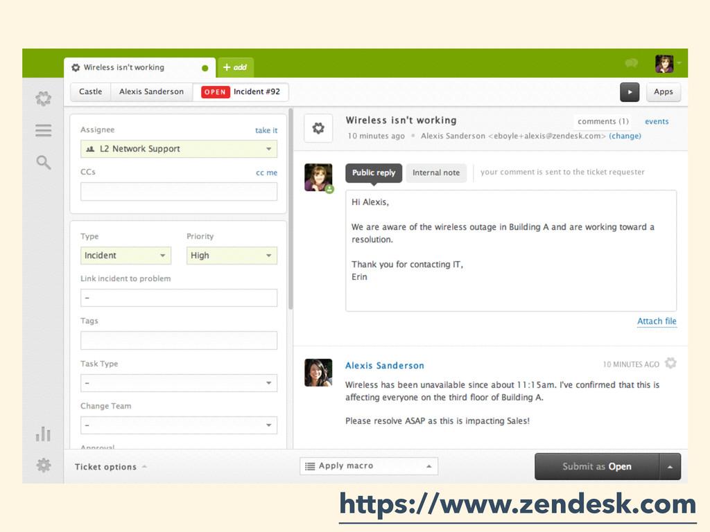 ZenDesk https://www.zendesk.com