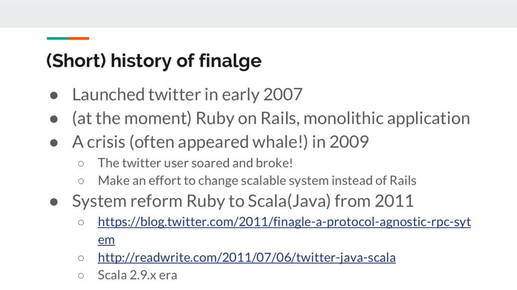 (Short) history of finalge ● Launched twitter i...