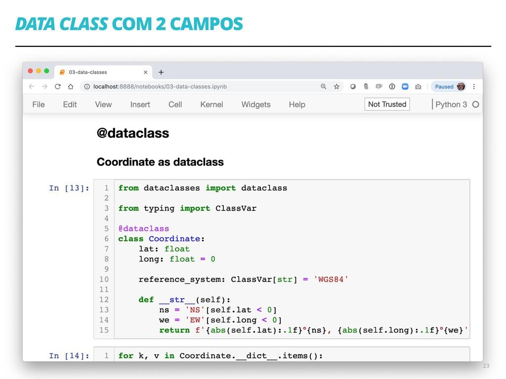 DATA CLASS COM 2 CAMPOS 23