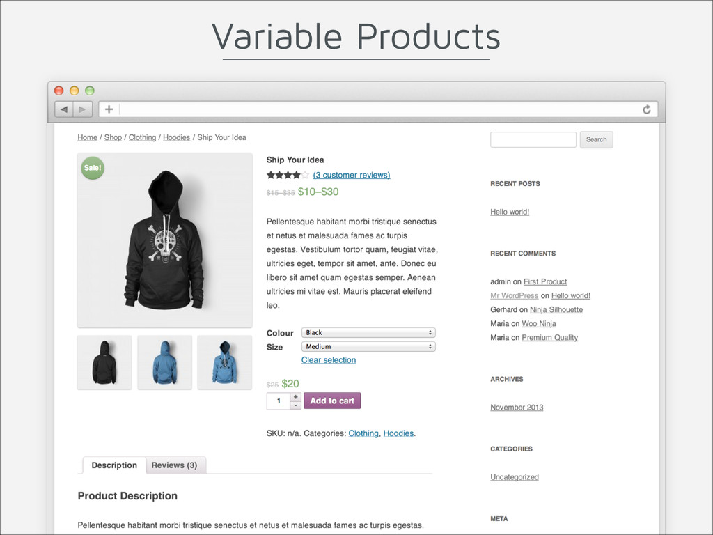 Variable Products