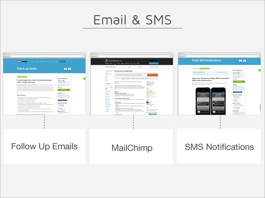 Follow Up Emails MailChimp SMS Notifications Ema...