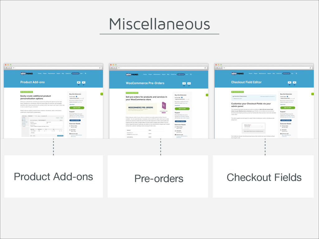 Product Add-ons Pre-orders Checkout Fields Misc...