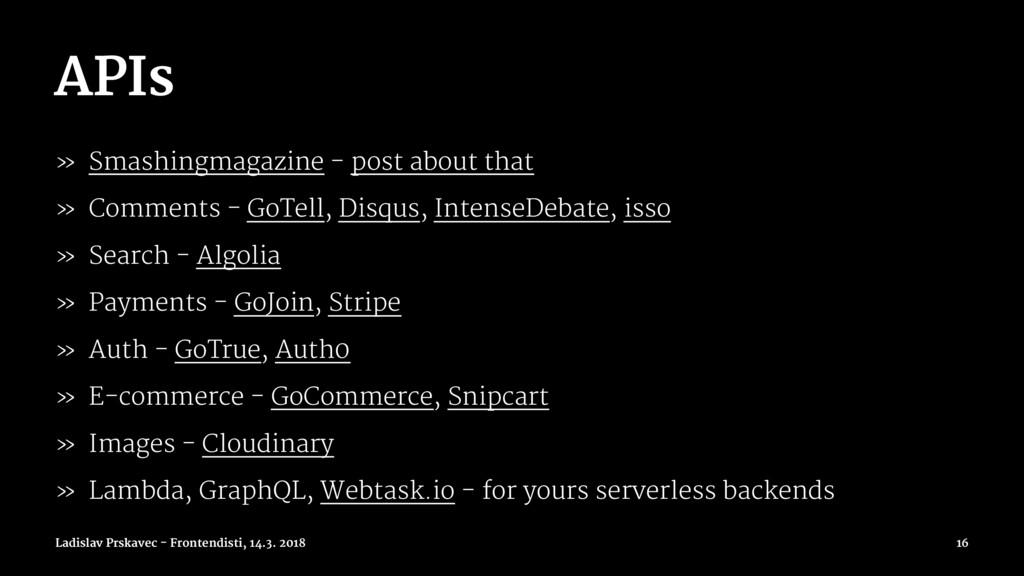 APIs » Smashingmagazine - post about that » Com...