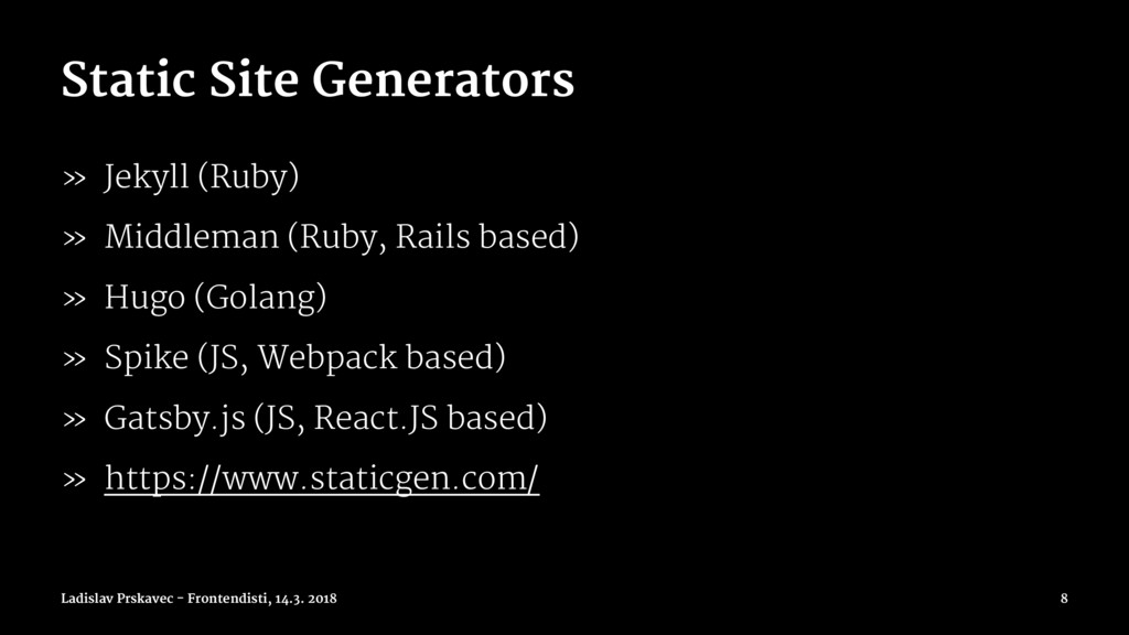 Static Site Generators » Jekyll (Ruby) » Middle...