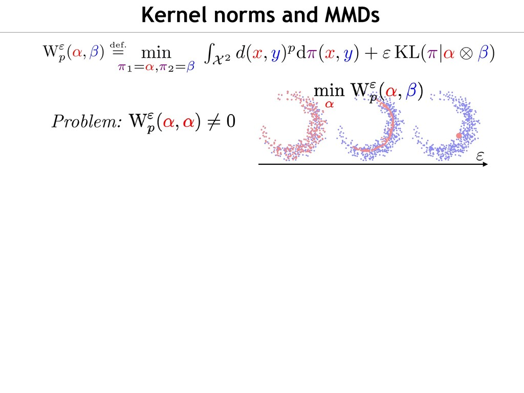 """Kernel norms and MMDs """" > 0 : in general, there..."""