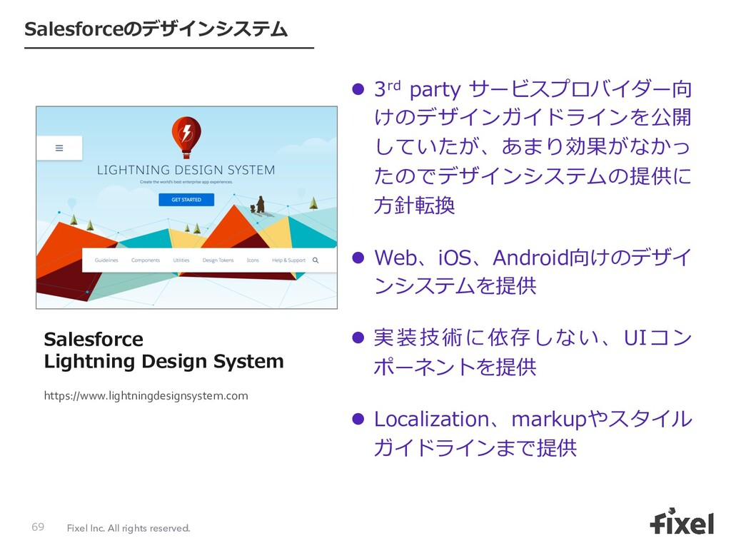 Fixel Inc. All rights reserved. Salesforceのデザイン...