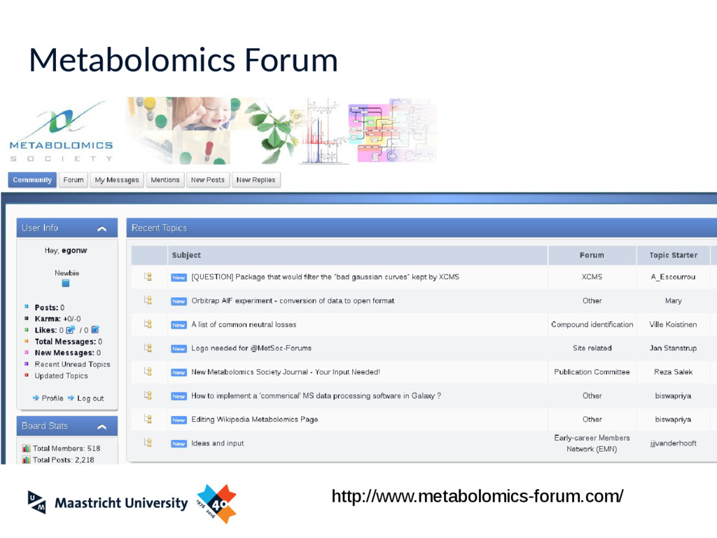 Metabolomics Forum http://www.metabolomics-foru...