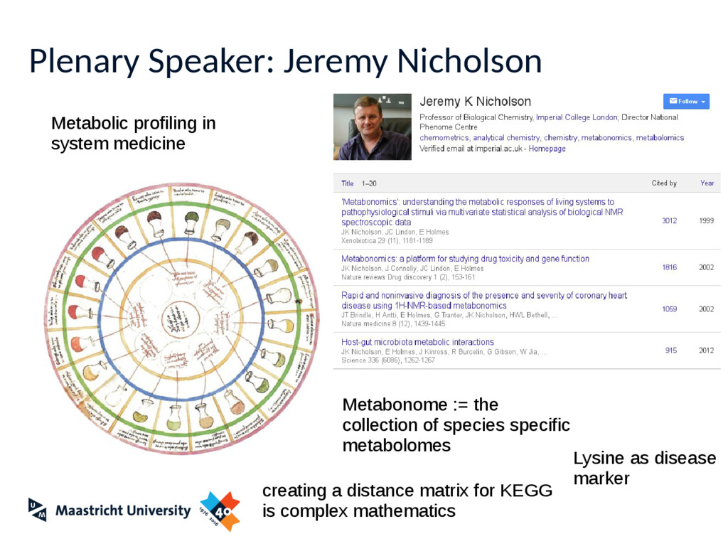 Plenary Speaker: Jeremy Nicholson Metabolic pro...