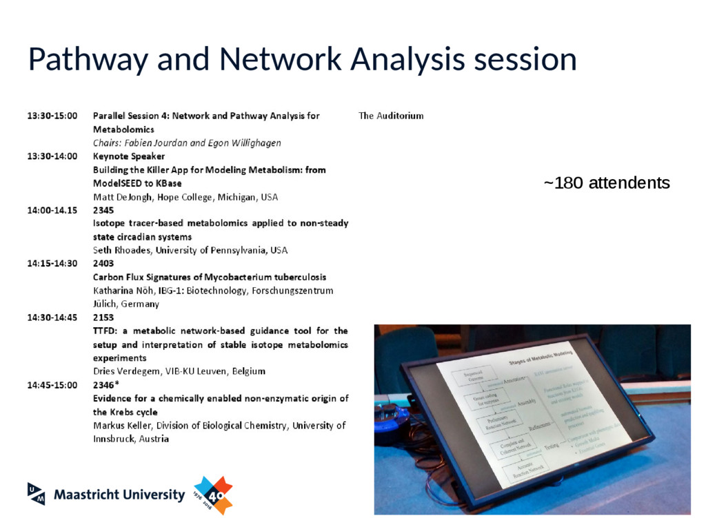 Pathway and Network Analysis session ~180 atten...