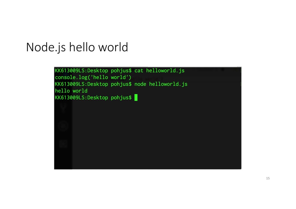 Node.js hello world 15