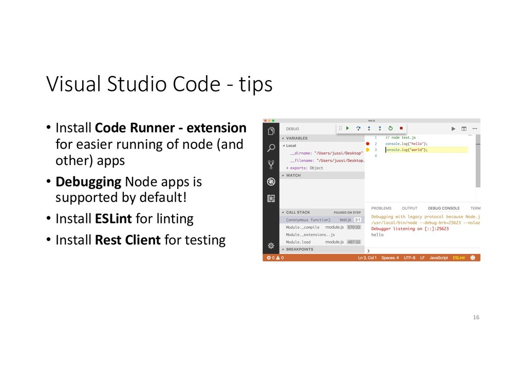 Visual Studio Code - tips • Install Code Runner...