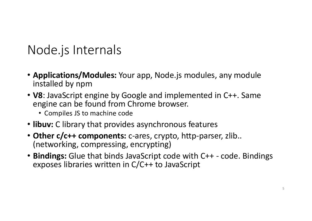 Node.js Internals • Applications/Modules: Your ...