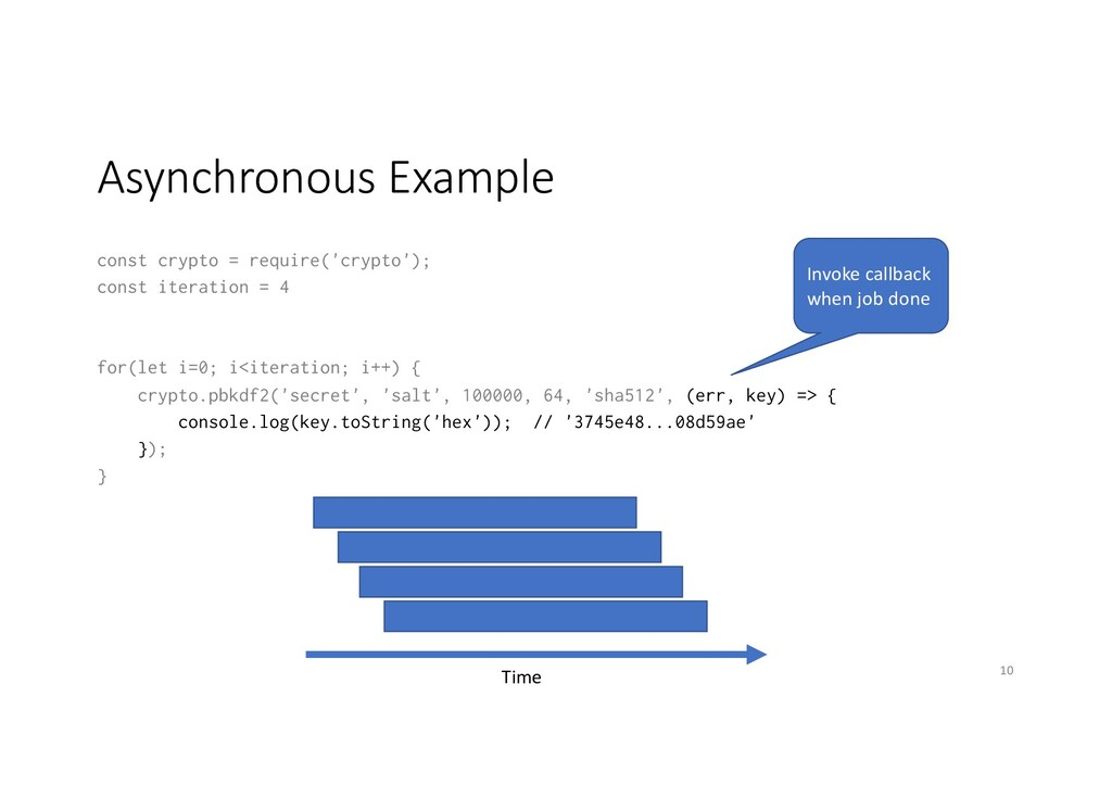 Asynchronous Example const crypto = require('cr...