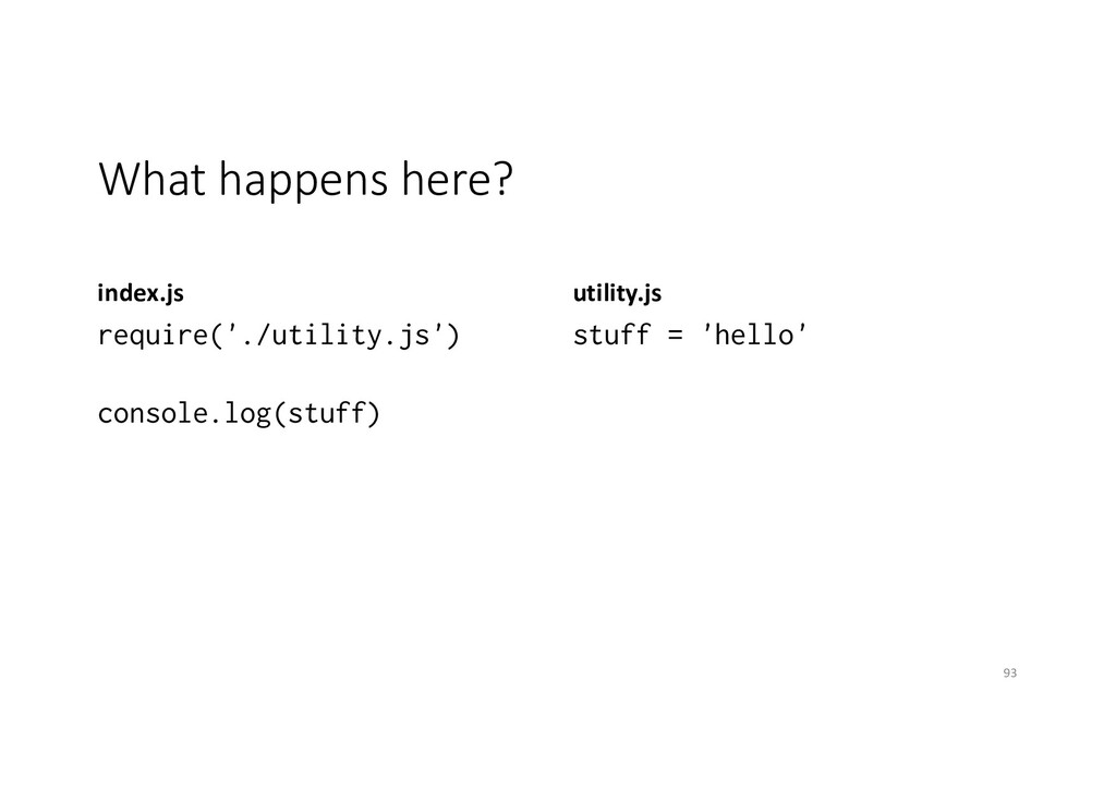 What happens here? index.js require('./utility....