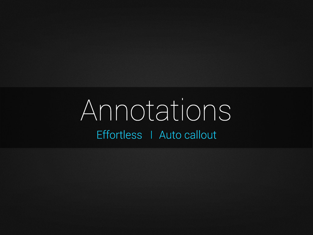 Effortless Annotations I Auto callout