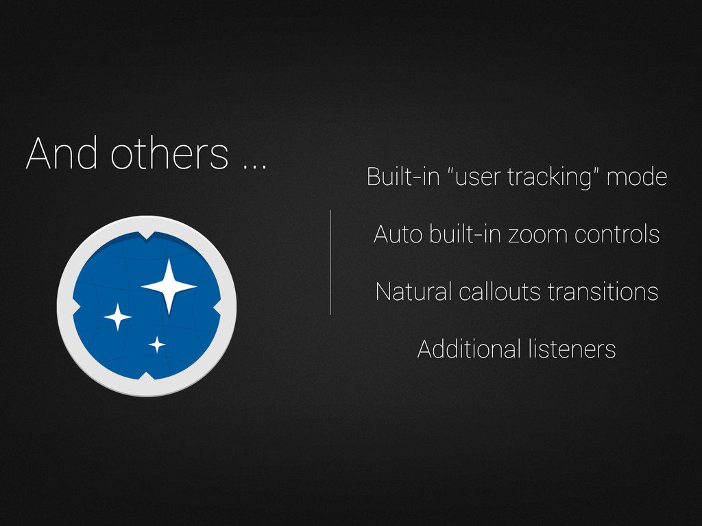 "Built-in ""user tracking"" mode Auto built-in zoo..."