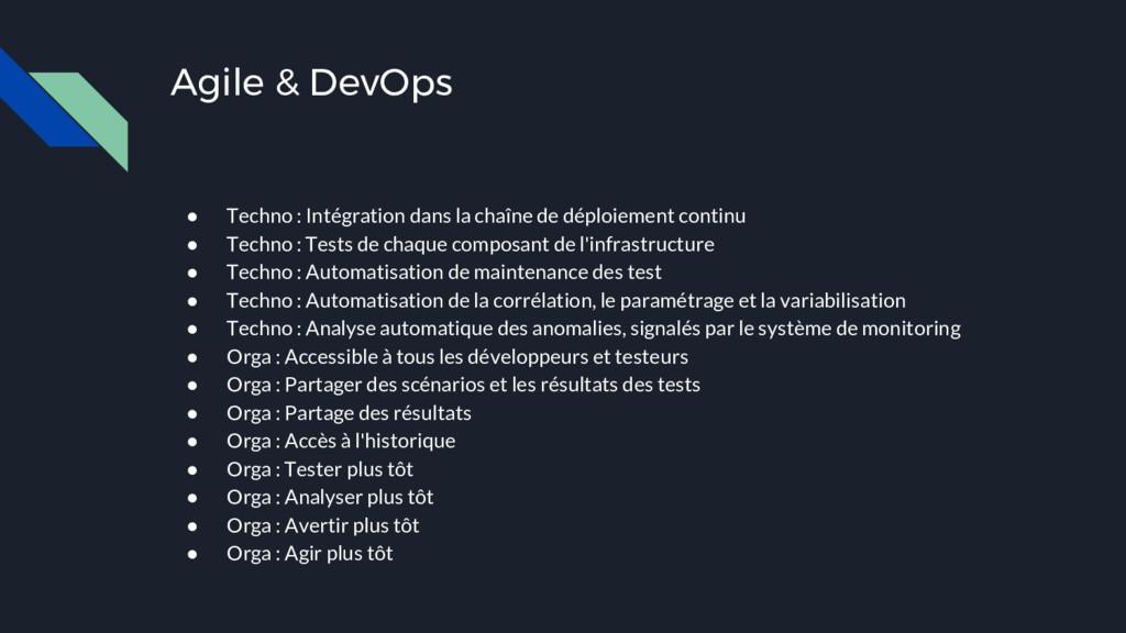Agile & DevOps ● Techno : Intégration dans la c...