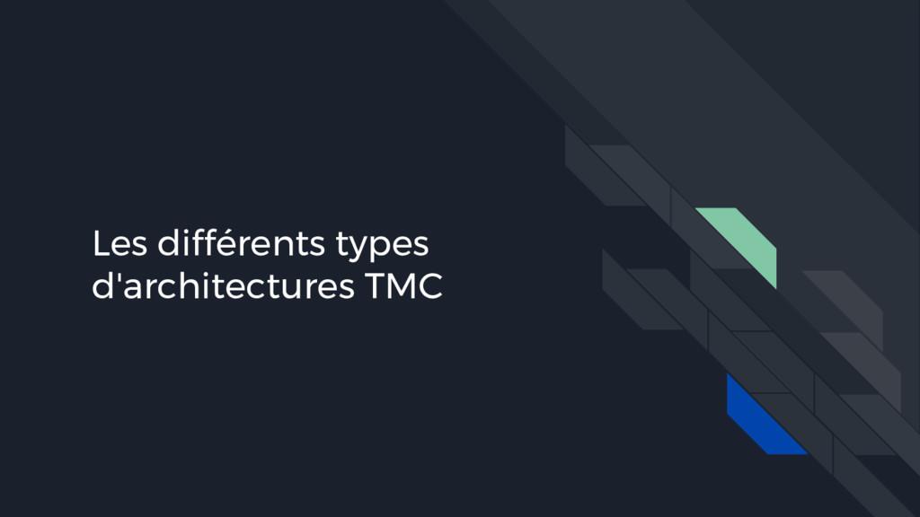 Les différents types d'architectures TMC
