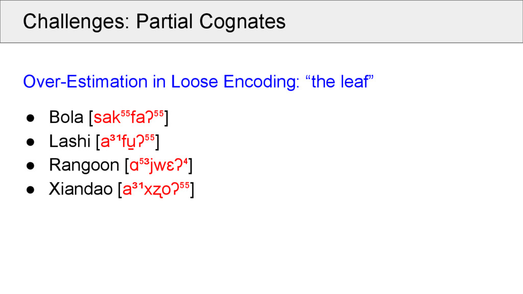 Challenges: Partial Cognates Over-Estimation in...