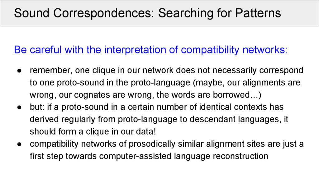 Sound Correspondences: Searching for Patterns B...