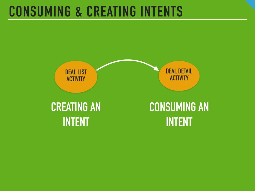 CONSUMING & CREATING INTENTS DEAL LIST  ACTIVI...