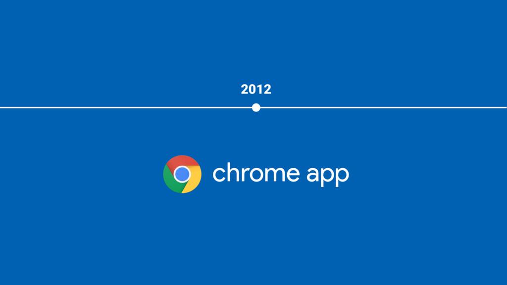 2012 chrome app