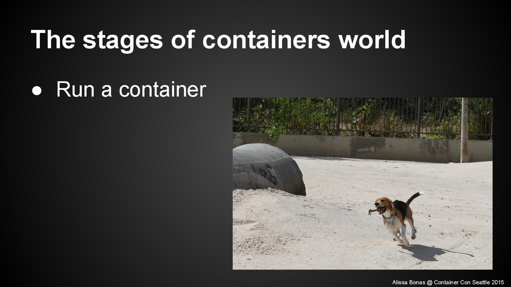 The stages of containers world ● Run a containe...