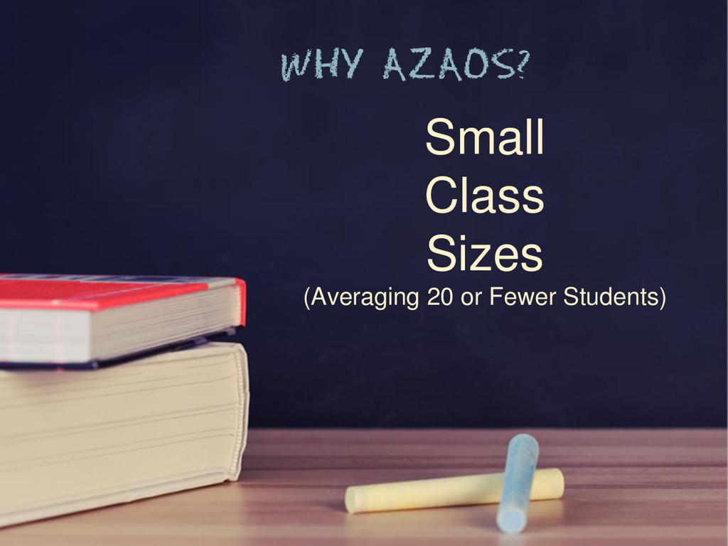 Small Class Sizes (Averaging 20 or Fewer Studen...