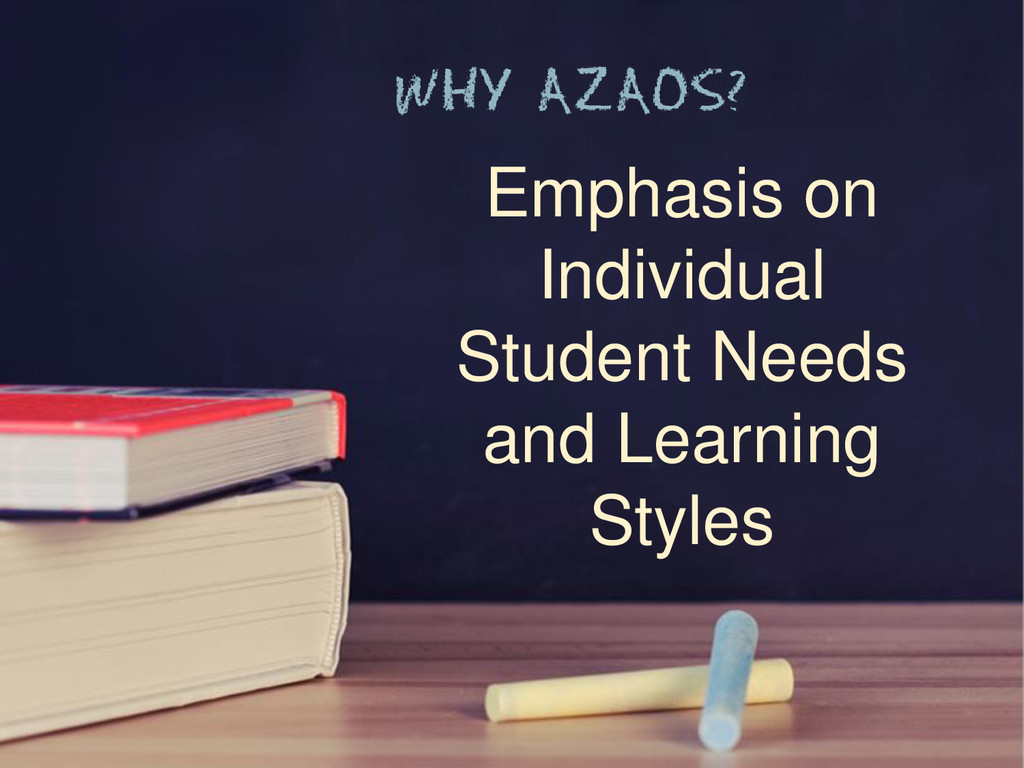 Emphasis on Individual Student Needs and Learni...