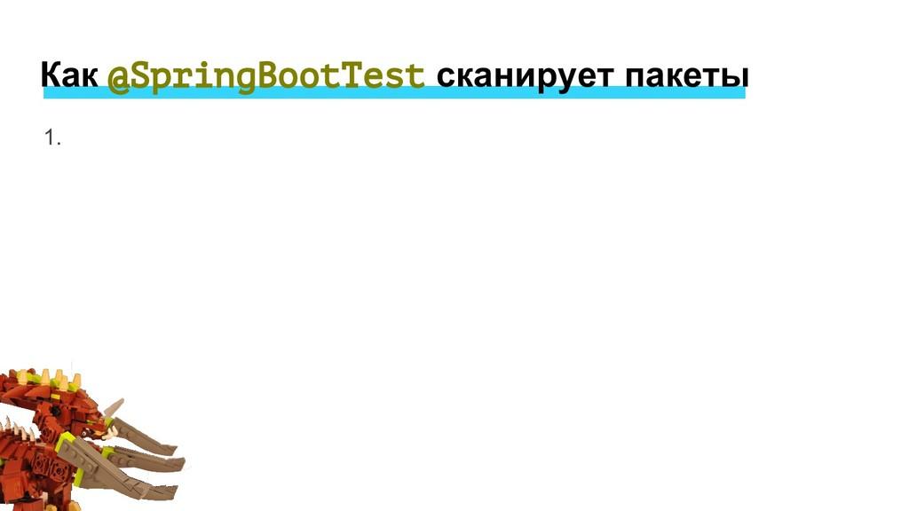 1. Как @SpringBootTest сканирует пакеты
