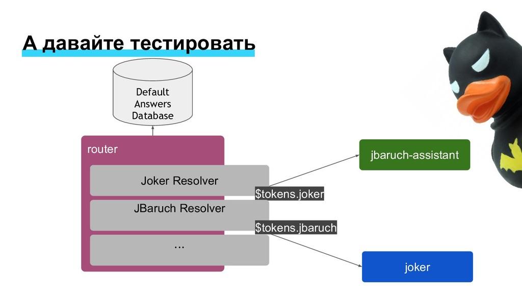 А давайте тестировать router joker jbaruch-assi...