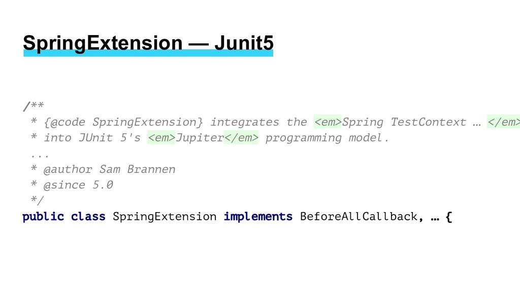 /** * {@code SpringExtension} integrates the <e...