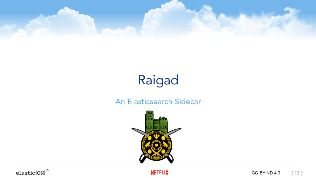 { } CC-BY-ND 4.0 { 13 } Raigad An Elasticsearch...