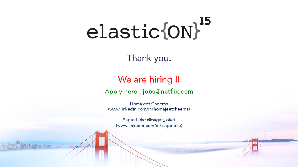 { } Thank you. We are hiring !! Apply here : jo...
